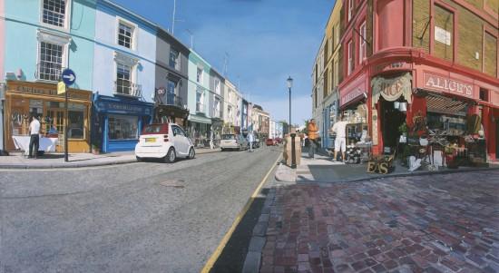 <p>&#34;Portobello Road 9:47 am&#34;</p><p>Acrylic on canvas</p><p>100 x 180 cm</p>