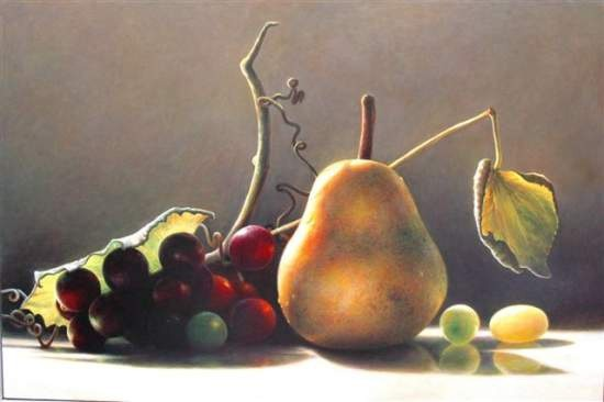 <p><strong>James Del Grosso</strong></p><p><em>Eve's Pear ang Grapes</em></p>