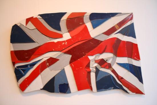 <p>Diederick Kraaijeveld</p><p>&#34;Waving Flags 2&#34;</p><p>Sculpture/ assemblage of originally coloured salvage wood</p><p>130 cm wide</p>
