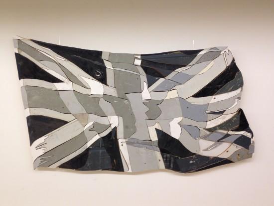 <p>Diederick Kraaijeveld</p><p>&#34;Waving Flags 3 (Bleached-black and white)</p><p>Sculpture/assemblage of originally coloured salvage wood</p><p>130 cm wide</p>