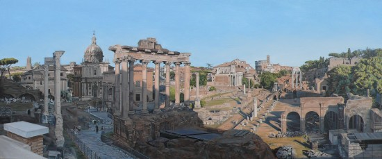 <p>David Wheeler</p><p>&#34;The Forum, Rome&#34;</p><p>56 x 130 cm</p><p>Oil on linen</p>