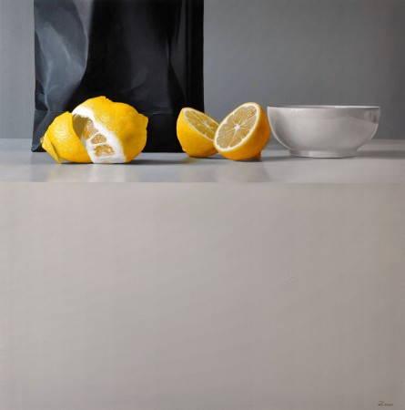 <p>Fernando O'Connor</p><p>&#34;Lemons and Bowl&#34;</p><p>Oil on canvas</p><p>90 x 90 cm</p><p>&#160;</p><p>&#160;</p>