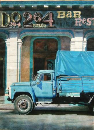 <p>Angus McEwan</p><p>&#34;Rest Stop&#34;</p><p>Watercolour on paper</p><p>95 x 70 cm</p>