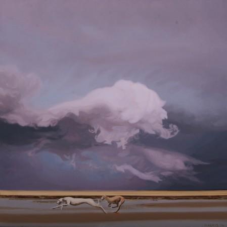 <p>Phillip Harris</p><p>&#34;Storm Dog 2&#34;</p><p>Oil on aluminum</p><p>20 x 20 cm</p>