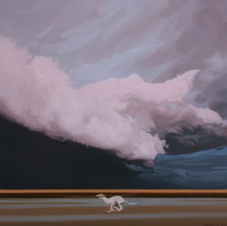<p>Phillip Harris</p><p>&#34;Storm Dog 1&#34;</p><p>Oil on aluminum</p><p>20 x 20 cm</p>