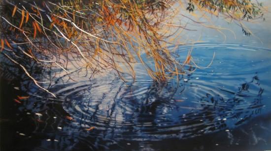 <p>David Kessler</p><p>&#34;Wind Blown Bough&#34;</p><p>Acrylic and resin on abraded aluminum</p>