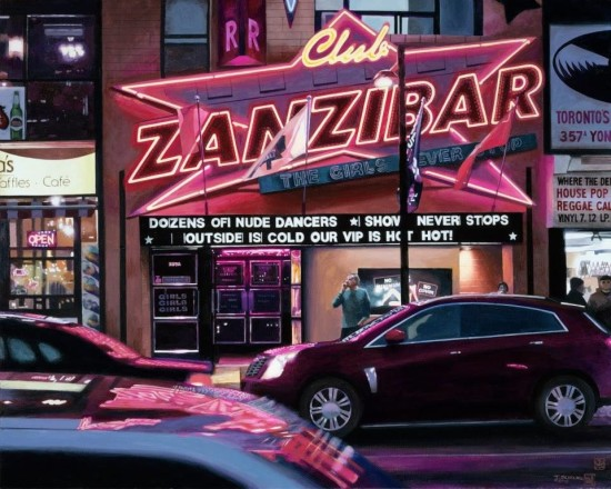 <p>Tad Suzuki</p><p>&#34;Club Zanzibar: Neon Studies &#34;</p><p>61 x 76 cm</p><p>Acrylic on canvas</p>