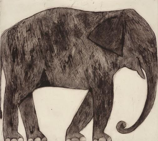 <span class=&#34;artist&#34;><strong>Kate Boxer</strong></span>, <span class=&#34;title&#34;><em>Elephant (Framed)</em></span>