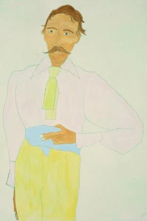 <span class=&#34;artist&#34;><strong>Kate Boxer</strong></span>, <span class=&#34;title&#34;><em>Robert Louis Stevenson (Framed)</em></span>