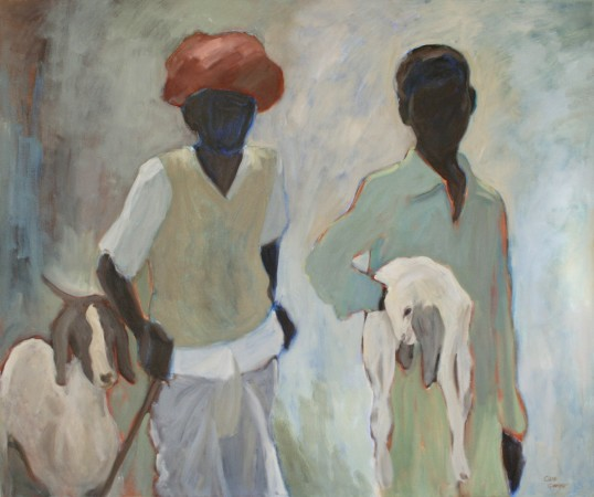 <span class=&#34;artist&#34;><strong>Clare Granger</strong></span>, <span class=&#34;title&#34;><em>Man and Boy with Goats</em></span>