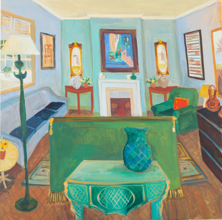 <span class=&#34;artist&#34;><strong>Lottie Cole</strong></span>, <span class=&#34;title&#34;><em>London Interior - with Matisse Reclining Nude and Giacometti Lamp</em></span>