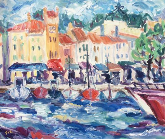 <span class=&#34;artist&#34;><strong>Fi Katzler</strong></span>, <span class=&#34;title&#34;><em>Cassis Boats II</em></span>