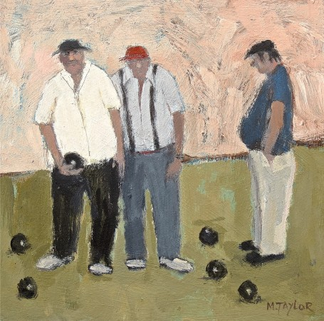 <span class=&#34;artist&#34;><strong>Malcolm Taylor</strong></span>, <span class=&#34;title&#34;><em>Bowlers' Hats</em></span>