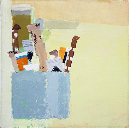 <span class=&#34;artist&#34;><strong>Sydney Licht</strong></span>, <span class=&#34;title&#34;><em>Still Life with Blue Container </em>, 2016 </span>
