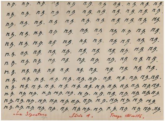 La Signature (Serie I), 1969