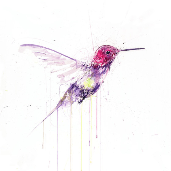 Hummingbird I (Gold Leaf Version)