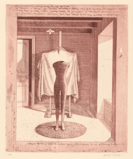 Mannequin with Covered Easel