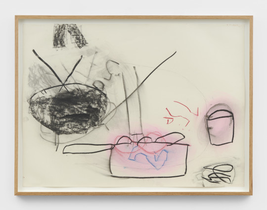 Roy Oxlade Untitled, 2006 Charcoal and pastel on paper 55.8 x 76.2 cm, 22 x 30 ins 61.4 x 81.4 cm, 24 1/8 x 32 1/8 ins, framed signed and dated 'R. Oxlade 2006' on reverse