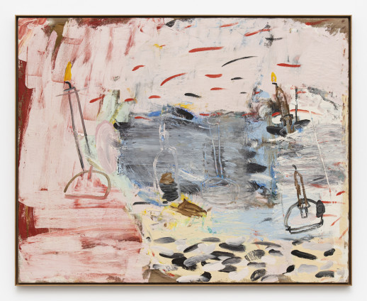 Roy Oxlade Untitled, 1985 Oil on canvas 120.5 x 152 cm, 47 1/2 x 59 7/8 ins 123 x 153.6 cm, 48 3/8 x 60 1/2 ins, framed signed and dated 'R Oxlade 1985' on reverse