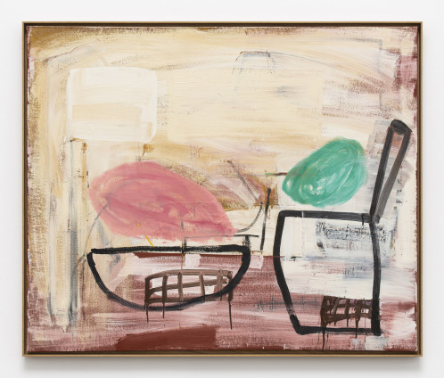 Roy Oxlade Black Saucepan and Dish, n.d. Oil on canvas 102 x 122 cm, 40 1/8 x 48 1/8 ins 104.6 x 124.7 cm, 41 1/8 x 49 1/8 ins, framed