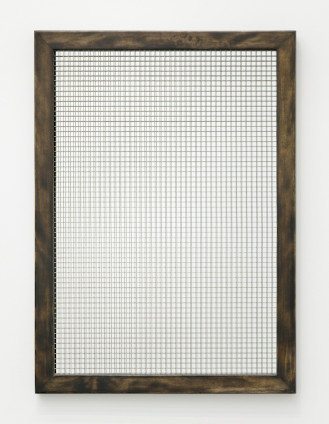 Robert Mapplethorpe Mirror, c. 1971 Mirror with wire mesh, wood frame 66 x 91.5 cm, 26 x 36 1/8 ins Certificate of authenticity from the Robert Mapplethorpe Estate