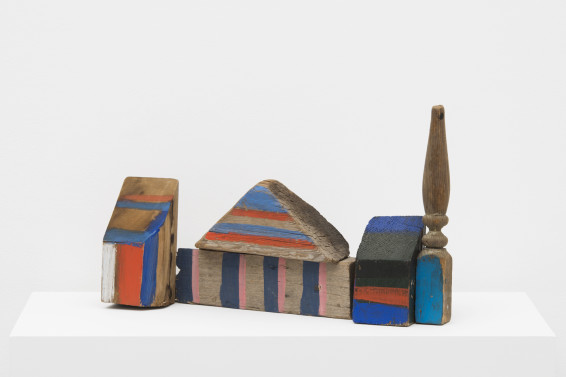 Betty Parsons African Village, 1981 Acrylic on wood, hardware 33 x 53.3 x 12.1 cm, 13 x 21 x 4 3/4 ins Unique