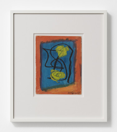 Betty Parsons Untitled, 1956 Gouache on paper 17.8 x 14 cm, 7 x 5 1/2 ins 33.8 x 29.4 cm, 13 1/4 x 11 5/8 ins, framed