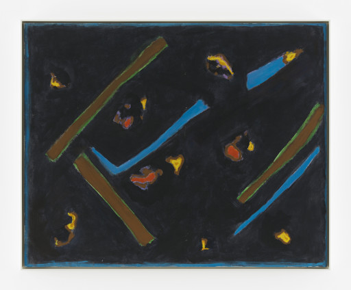 Betty Parsons Untitled, 1971 Acrylic on canvas 107 x 132.5 cm, 42 1/8 x 52 1/8 ins 109.6 x 135.3 cm, 43 1/8 x 53 1/4 ins, framed Signature on recto; date and orientation on stretcher bar