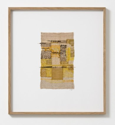 Sheila Hicks Colsa, Mur, Mur, Mur, 2013 Silk, cotton, porcupine quills 23.5 x 14 cm / 9 1/4 x 5 1/2 ins Signed and dated on verso