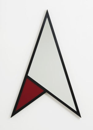 Robert Mapplethorpe Arrow, 1983 Mirror, coloured glass (red) and wood 120 x 78.7 cm, 47 1/4 x 31 ins Stamped and signed by the Robert Mapplethorpe Estate