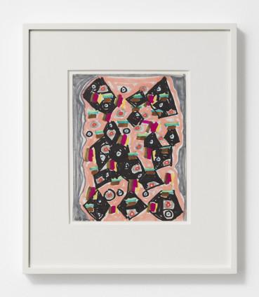 Betty Parsons Eyes, 1969 Marker on paper 22.5 x 17.2 cm, 8 7/8 x 6 3/4 ins 38.5 x 32.9 cm, 15 1/8 x 13 ins, framed