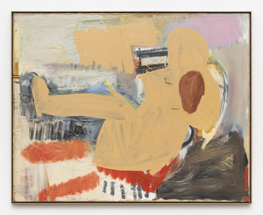 Roy Oxlade Potato, Rose, c. 1982 Oil on canvas 120 x 148 cm, 47 1/4 x 58 1/4 ins 124.4 x 155.8 cm, 49 x 61 3/8 ins, framed signed and inscribed 'The Potato - Oxlade' on reverse