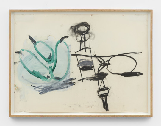 Roy Oxlade Untitled, c. 2004 Oil and charcoal on paper 55.8 x 76 cm, 22 x 29 7/8 ins 61.4 x 81.4 cm, 24 1/8 x 32 1/8 ins, framed signed 'R. Oxlade' lower left