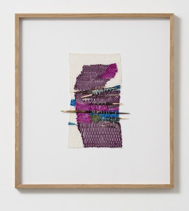 Sheila Hicks Escape to the North, 2013 Signed and dated on verso Linen, silk, bamboo, porcupine quills 24.5 x 14 cm / 9 5/8 x 5 1/2 ins