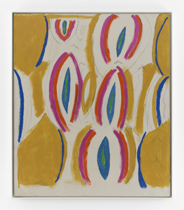 Betty Parsons Seeds, 1970 Charcoal and acrylic on canvas 177.8 x 152.4 cm, 70 x 60 ins 181.6 x 157 cm, 71 1/2 x 61 3/4 ins, framed