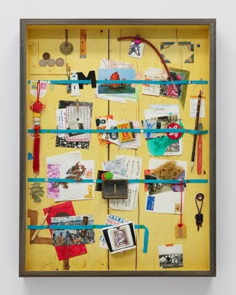 Vik Muniz, Letter Rack Hong Kong (Yellow) (Handmade), 2019