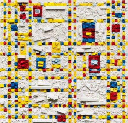 Vik Muniz, Metachrome (Broadway Boogie Woogie, after Piet Mondrian), 2016