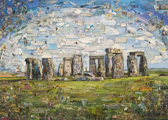 Vik Muniz, Stonehenge (Postcards from Nowhere), 2015