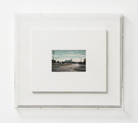 Hannah Wilke  Donnybrook, 1974  Kneaded erasers, vintage postcard, painted board  39.1 x 44.1 cm, 15 3/8 x 17 3/8 ins, framed  Signed 'Wilke 74'