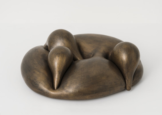 Maria Bartuszová  Folded Figure (Haptic), 1968  Bronze  15 x 40 x 38 cm, 5 7/8 x 15 3/4 x 15 ins  Edition 2/5  Cast by the Estate of Maria Bartuzsová in 2000