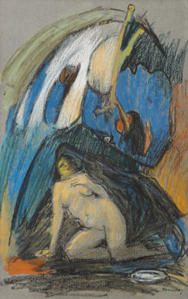 Dorothea Tanning Pastel Quiet, 1985 Pastel on paper 41.9 x 26.7 cm, 16 1/2 x 10 1/2 ins 63.5 x 48.5 cm, 25 x 19 1/8 ins, framed Signed 'Dorothea Tanning' (lower right)