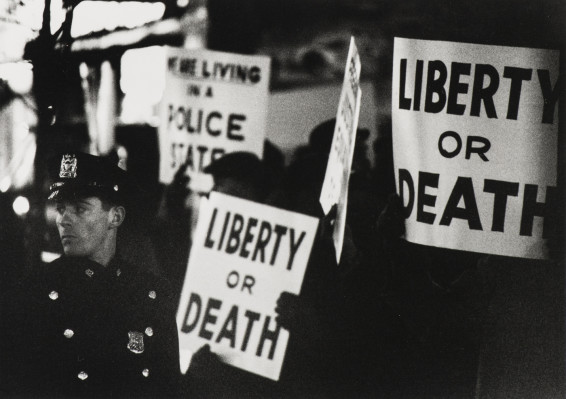Gordon Parks Harlem Rally, Harlem, New York, 1963 Silver Gelatin Print 20.3 x 25.4 cm, 8 x 10 ins, paper size 38.4 x 45.6 cm, 15 1/8 x 18 ins, framed
