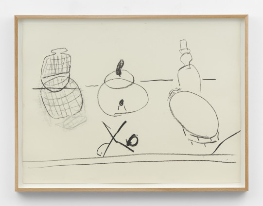 Roy Oxlade Untitled, n.d. Charcoal on paper 61.4 x 81.4 cm, 24 1/8 x 32 1/8 ins, framed