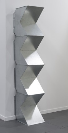 Charlotte Posenenske Vierkantrohre Serie D (Square Tubes Series D), 1967-2014 4 elements, hot-dip galvanised sheet steel Overall: 117 x 130 x 50 cm / 46 1/8 x 51 1/8 x 19 3/4 ins Authorized Reconstruction Certified by the Estate