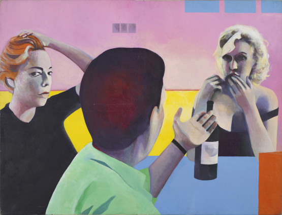 Sue Dunkley Untitled (Marilyn, Yves & Simone), c. 1975 Oil on canvas 140 x 183 cm, 55 1/8 x 72 1/8 ins