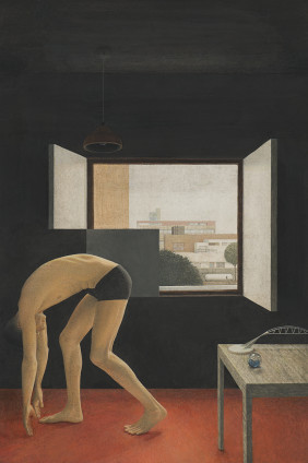 Graham Little Untitled (Athlete), 2019 Gouache on paper 35 x 23.2 cm, 13 3/4 x 9 1/8 ins 65.5 x 51.5 cm, 25 3/4 x 20 1/4 ins, framed
