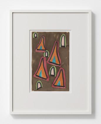 Betty Parsons Turkish Windows, 1968 Marker on paper 20.6 x 13 cm, 8 1/8 x 5 1/8 ins 36.8 x 28.6 cm, 14 1/2 x 11 1/4 ins, framed