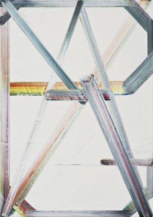 Philomene Pirecki Grey Painting: Text Version 23, 33, 49, 2011-2013 Oil on canvas 35 x 25 cm 13 3/4 x 9 7/8 ins