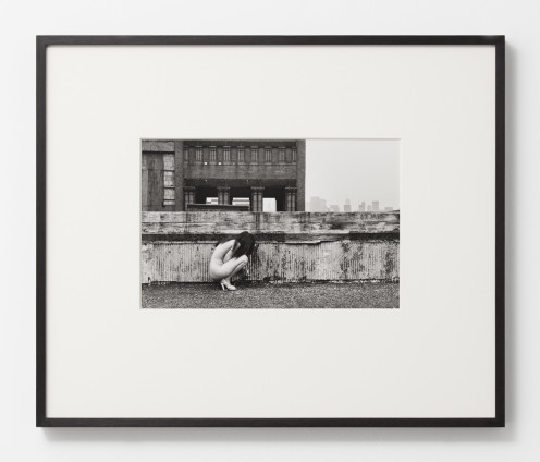 Hannah Wilke So Help Me Hannah, 1978 Black and white photograph 27.9 x 35.6 cm, 11 x 14 ins, paper size 50 x 57 x 2.2 cm, 19 3/4 x 22 1/2 x 7/8 ins, framed