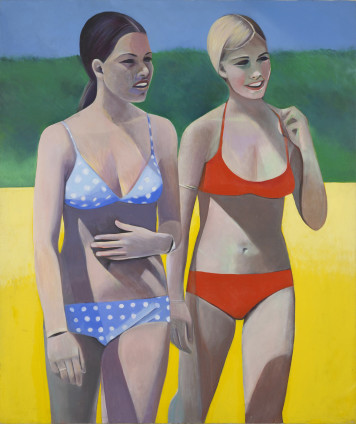 Sue Dunkley  Bikini Nudes, c. 1971  Oil on canvas  182.5 x 152.5 cm, 71 7/8 x 60 1/8 ins  Titled on the verso